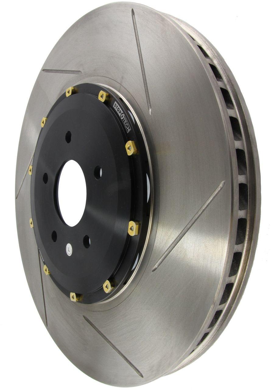 StopTech Disc Brake Rotors Brakes AeroRotor - Black Hat - No Rotor Coating - Slotted Right 129.42079.14
