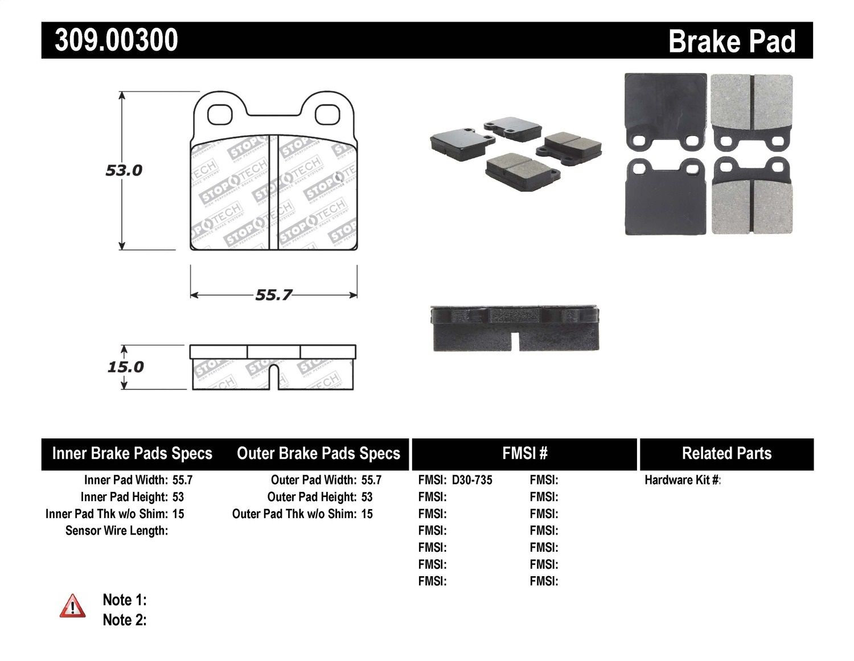 EBC Brakes UD356 Ultimax OEM Replacement Brake Pad