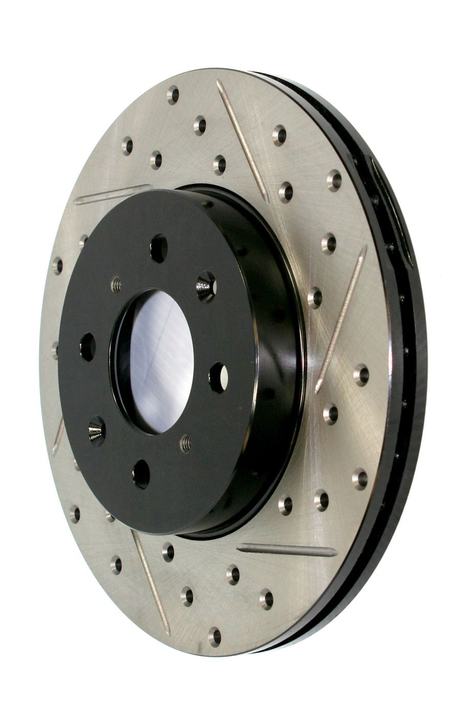 Mitsubishi Lancer StopTech Disc Brake Rotors Brakes StopTech Sport Drilled/Slotted Disc 127.46065R