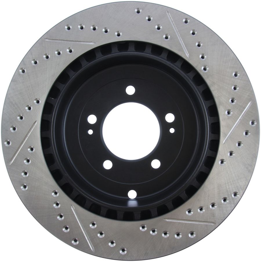 Mitsubishi Lancer StopTech Disc Brake Rotors Brakes StopTech Sport Drilled/Slotted Disc 127.46075R