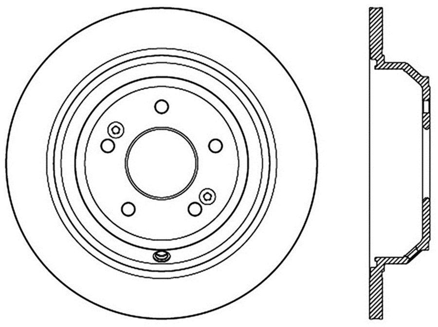 StopTech Disc Brake Rotors Brakes StopTech Sport Drilled/Slotted Disc 127.51045R