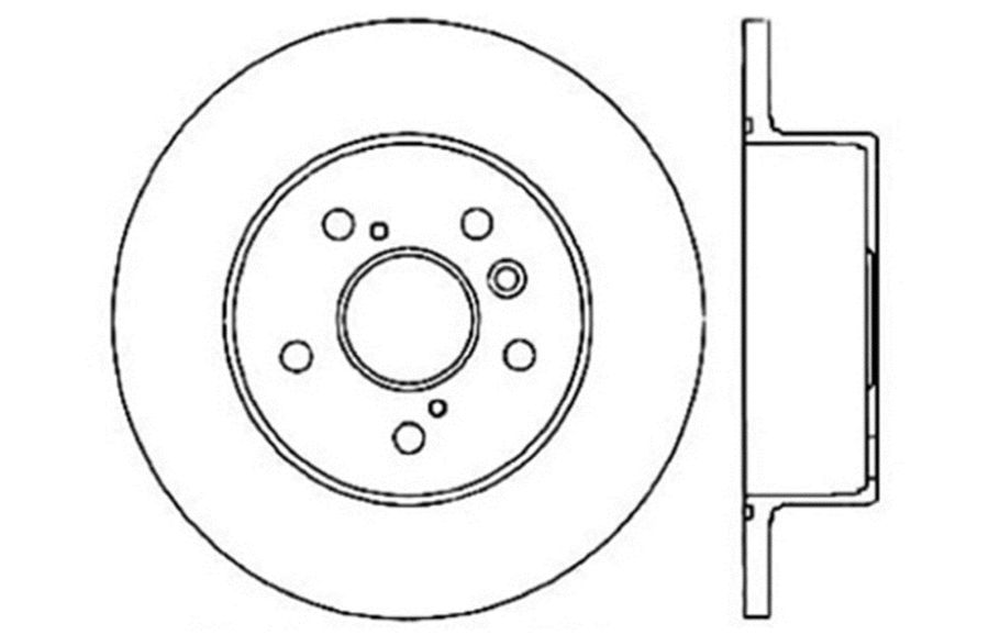Toyota Avalon StopTech Disc Brake Rotors Brakes StopTech Sport Drilled/Slotted Disc 127.44117R