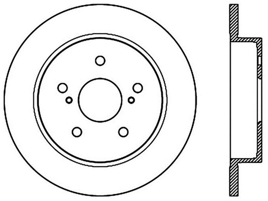Suzuki Kizashi StopTech Disc Brake Rotors Brakes StopTech Sport Drilled/Slotted Disc 127.48015R