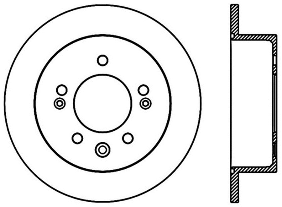 Hyundai Elantra StopTech Disc Brake Rotors Brakes StopTech Sport Drilled/Slotted Disc 127.51024R