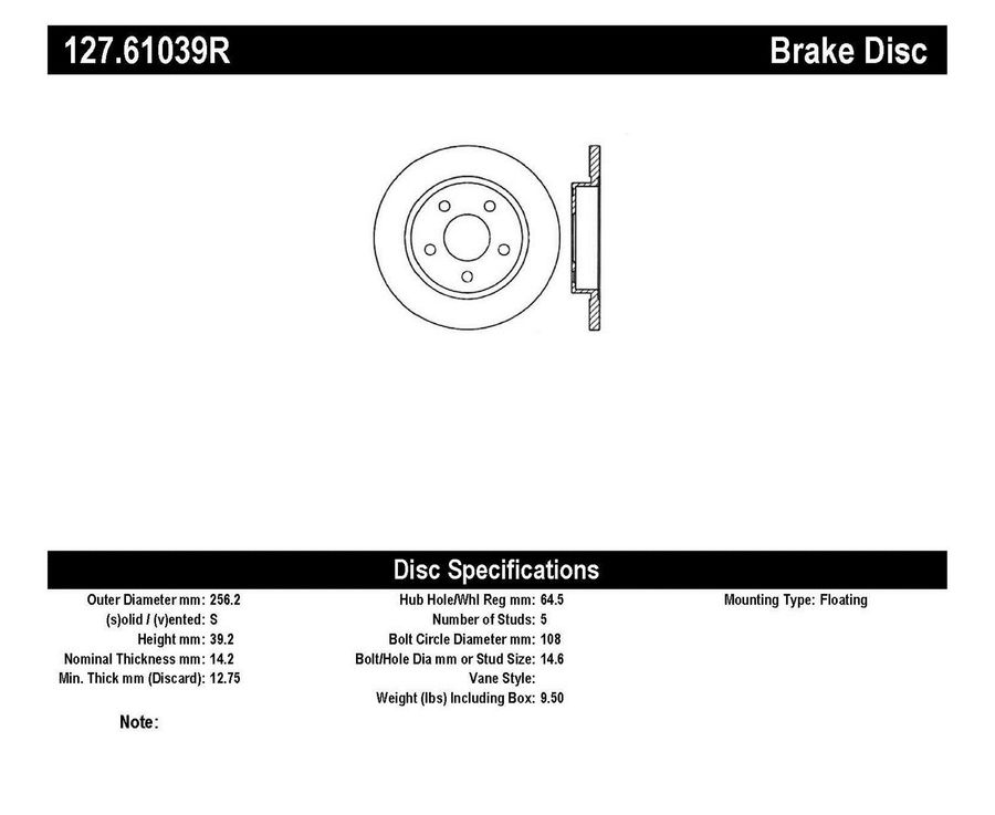 StopTech Disc Brake Rotors Brakes StopTech Sport Drilled/Slotted Disc 127.61039R