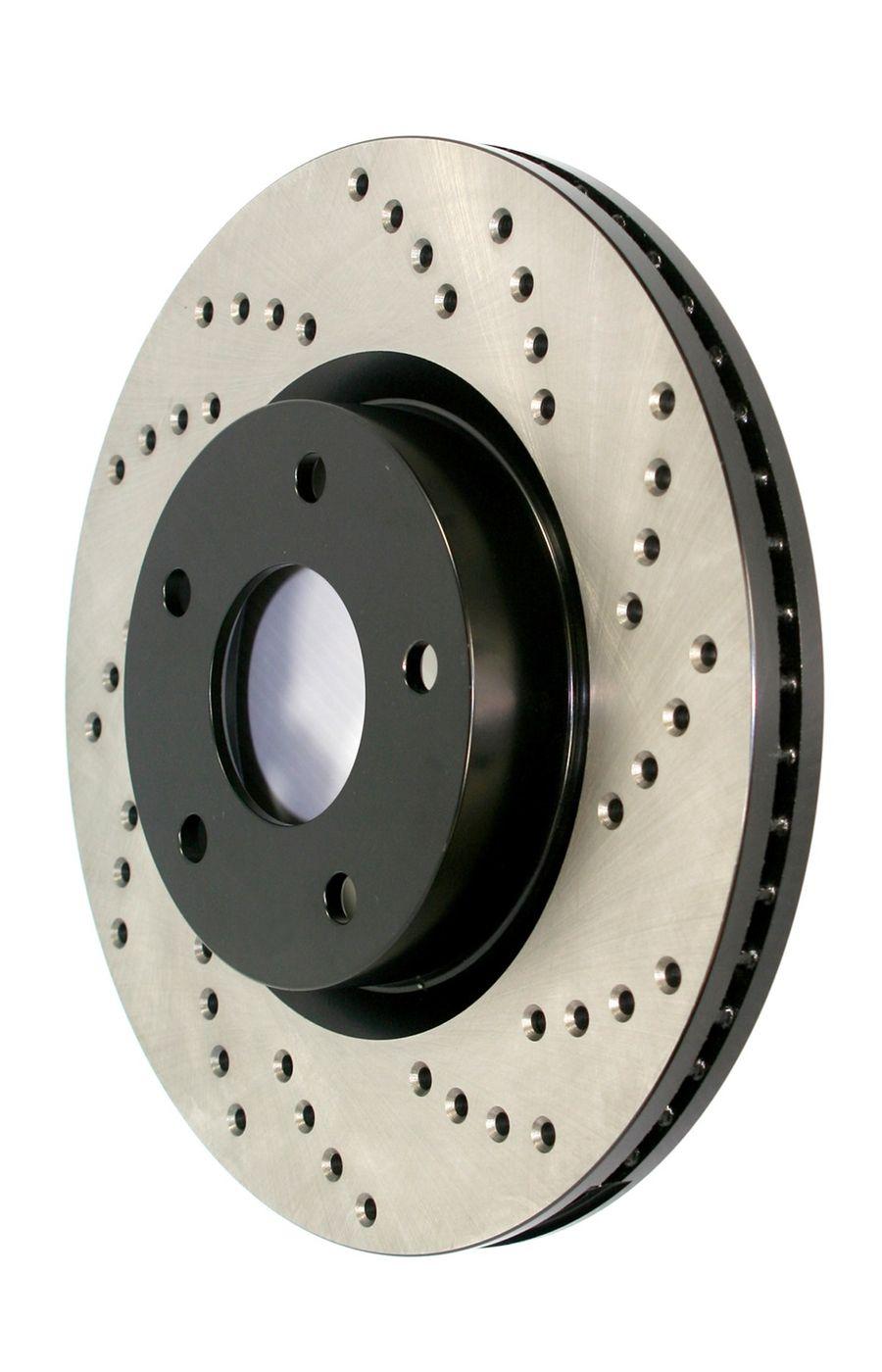 Mitsubishi Lancer StopTech Disc Brake Rotors Brakes StopTech Sport Drilled Disc 128.46065R