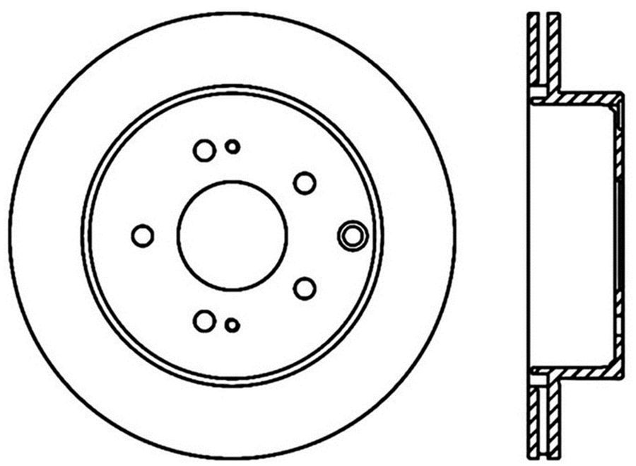StopTech Disc Brake Rotors Brakes StopTech Sport Drilled Disc 128.46072R