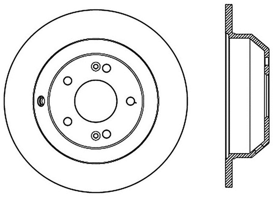 StopTech Disc Brake Rotors Brakes StopTech Sport Drilled Disc 128.51039R