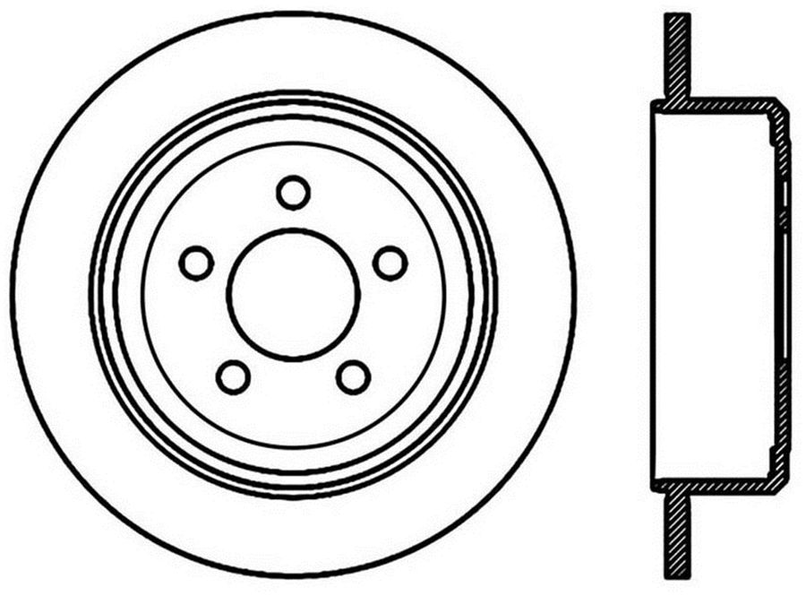 StopTech Disc Brake Rotors Brakes StopTech Sport Drilled Disc 128.63070R