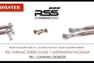 homepage tile photo for RSS TARMAC SERIES Stage – 1 Boxster / Cayman Suspension Kit corrects...