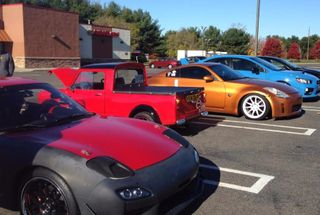 homepage tile photo for Cars and coffee next to a b series Mini truck
