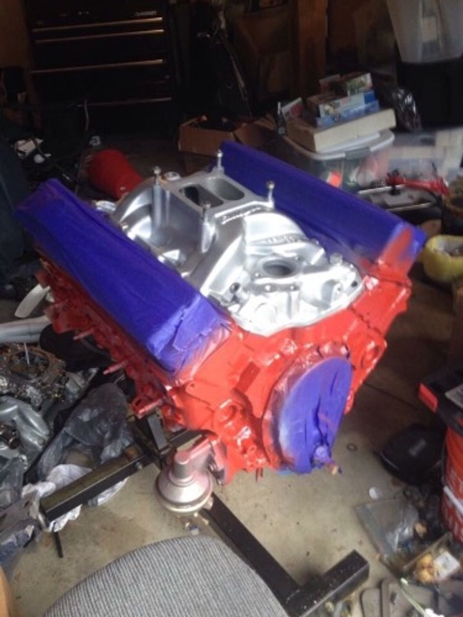 Chevrolet Sbc 305 Engine Block Installed On Joe Mosselli S
