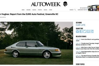 homepage tile photo for Thrilled to see Autoweek posted a picture of my '88 900 Airflow...