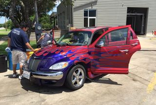 homepage tile photo for Getting my mom's car's first wash in Texas.