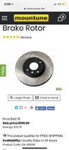 Thumbnail of Slotted brake rotors
