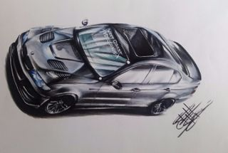 homepage tile photo for Love this illustration of my car done by Stephanie Isidro with...