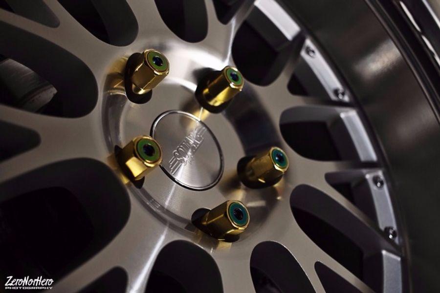 Godspeed 60mm Gold Type-X Aluminum Open Lug Nuts 20pcs M12x1.25 fits Nissan 350Z