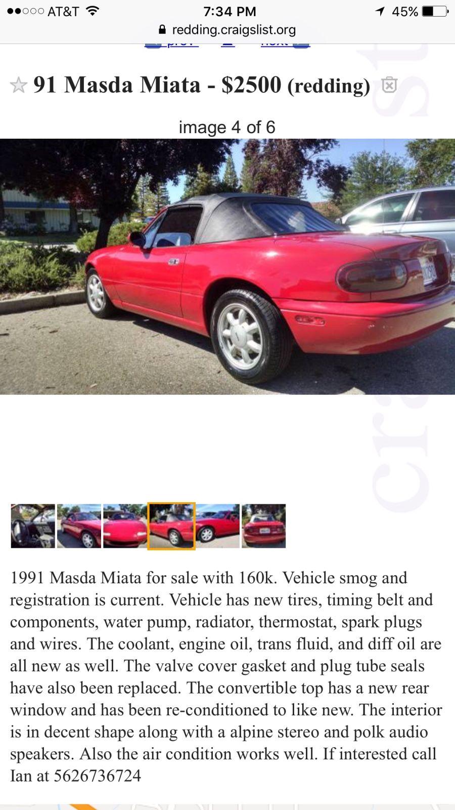 Tyler Lowe's 1991 Mazda MX-5 Miata on Wheelwell