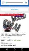 Thumbnail of 3inch drop springs