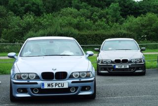 homepage tile photo for Two BMW E39 5 Series From BMW E39 Club U.K At BMW Show Santa...