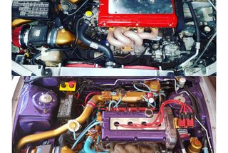 homepage tile photo for 97 GST Project Before/ After Engine bay