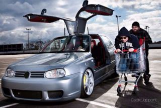 homepage tile photo for Anyone know these hooligans? This is one CRAZY mk3 GTI. I guess...
