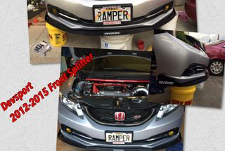 homepage tile photo for Devsport Front Splitter for the 2012-2015 Civic Si Finally Installed...