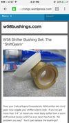Thumbnail of W58 Shifter bushings