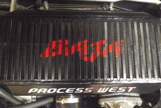 homepage tile photo for I made a stencil and painted up the fresh Process West intercooler...