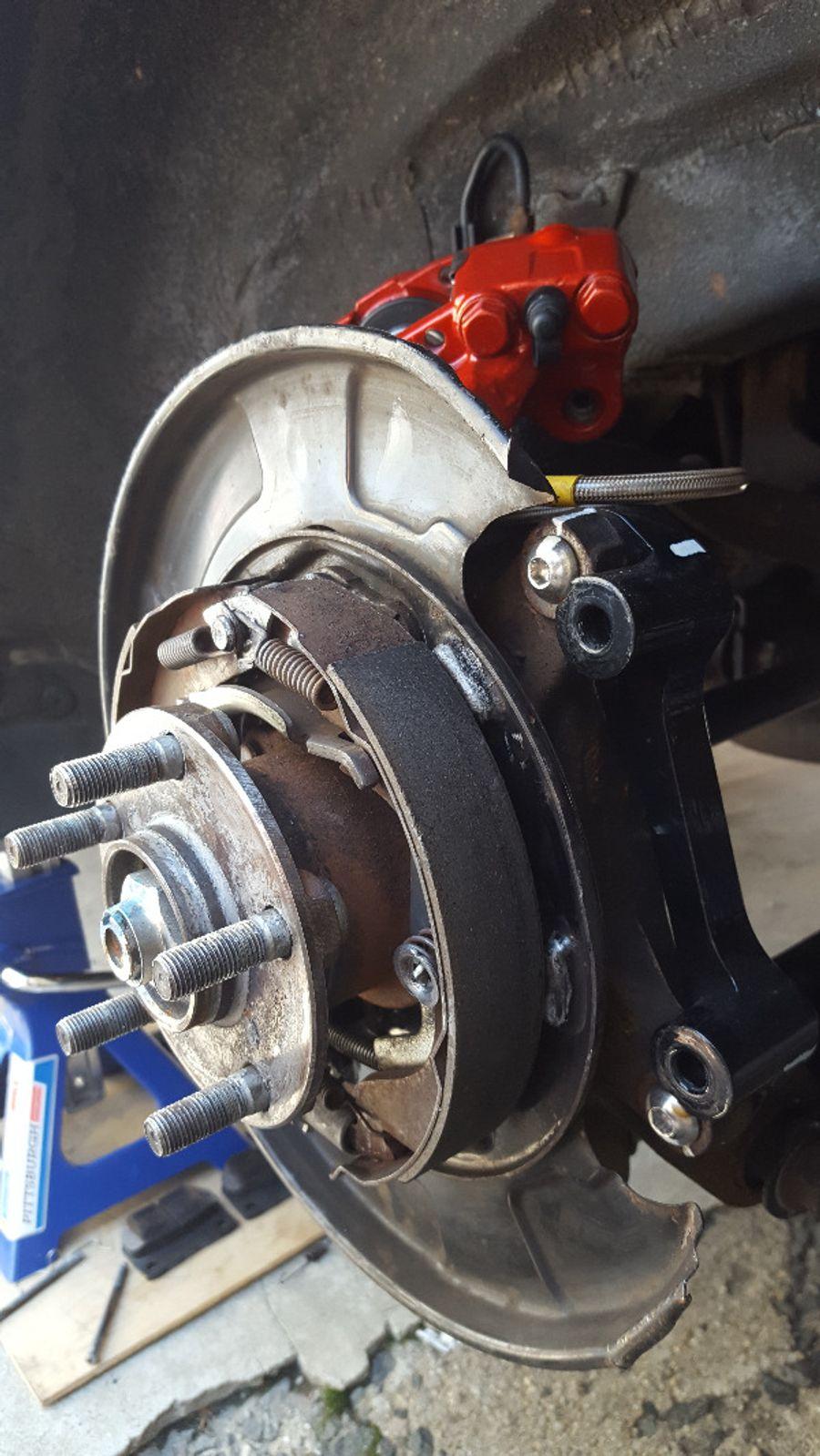Torque Solution Rear Brake Caliper Adapter for Subaru Impreza RS WRX Forester