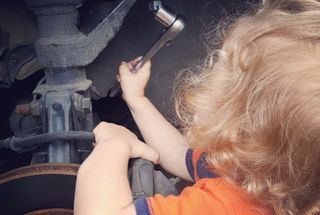 homepage tile photo for Starting her young. Had to swap out an outer tie rod, and my...