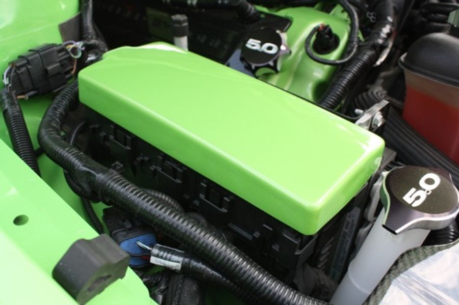 JLT JLT PAINTED FUSE BOX COVER w/CO (2010-14 ...  Ford Mustang Fuse Box on 87 toyota 4runner fuse box, 87 jeep cherokee fuse box, 87 vw cabriolet fuse box,