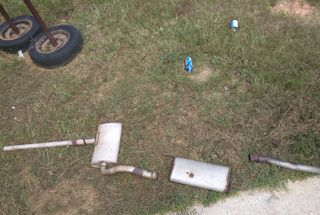 homepage tile photo for Well, cut the old exhaust off the LeMons car. Broke an O2 socket...