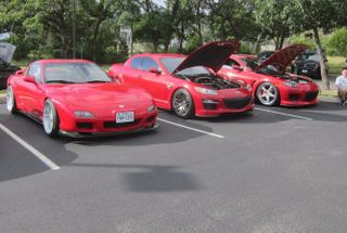 homepage tile photo for All the SARX reds at coffee & cars.
